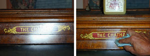 Remove overspray and paint splatters from antique furniture, finished wood, tin toys, decals, and more.